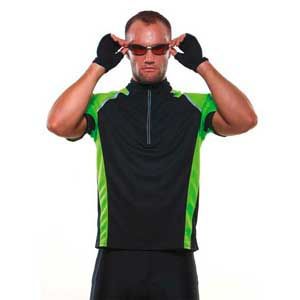 Cooltex Tour Zip Neck Top