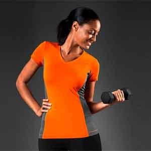 Hanes Ladies Contrast Sport Shirt